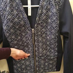 lululemon athletica Jackets & Coats - LULULEMON CARDIGAN AND AGAIN SASHIKO STAR INKWELL